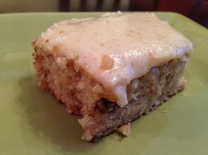 Sour cream banana squares