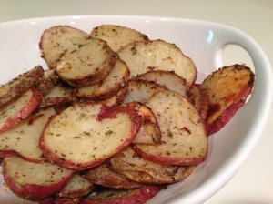 Herb and parmesan roasted potatoes