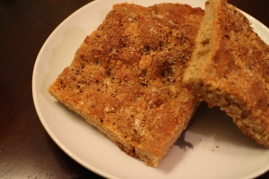 Parmesan & black pepper whole-wheat focaccia