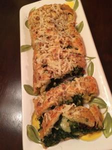Tuscan artichoke and spinach strudel