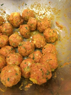 Kofta in action (made with beef)