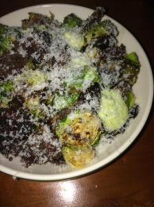 Brussels sprouts with blood sausage
