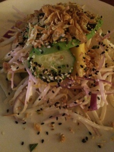 Burmese avocado salad