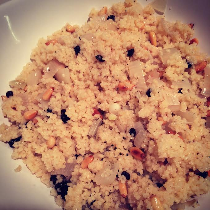Couscous With Pine Nuts And Almonds Recipe — Dishmaps
