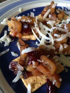 Cranberry apple sage bites