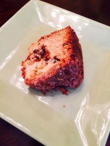 Walnut sour cream cake