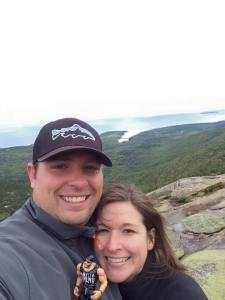 At the top of Cadillac Mountain in Acadia National Park