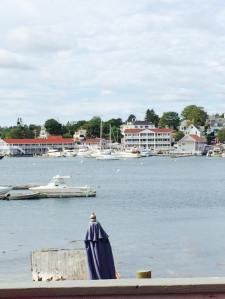 Out view from the Lobster Dock in Boothbay Harbor